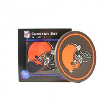 Cleveland Browns 4 pack Flexible Coaster Set