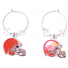 Cleveland Browns Beaded Hoop Earrings