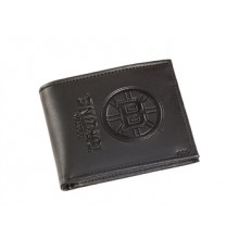 Boston Bruins  Black Leather Bi-Fold Wallet