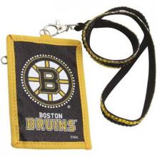 Boston Bruins Beaded Lanyard I.D. Wallet