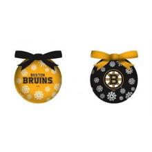 Boston Bruins LED Ball Ornaments Set of 2