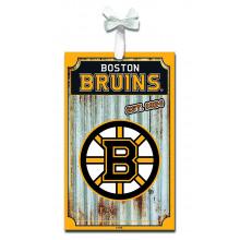 Boston Bruins Corrugated Metal Sign Ornament