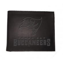 Tampa Bay Buccaneers Black Leather Bi-Fold Wallet