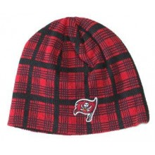 NFL Officially Licensed Tampa Bay Buccaneers Plaid Knit Beanie