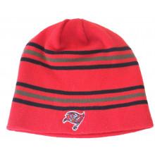 NFL Licensed Tampa Bay Buccaneers Red Knit 6 Stripe Beanie