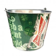 "Budweiser ""Grab a Pint O' Gold""  Beer  Bucket"