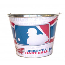 "Budweiser ""Heres to Baseball""  Beer  Bucket"