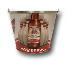 "Budweiser ""King of Pins""  Beer  Bucket"