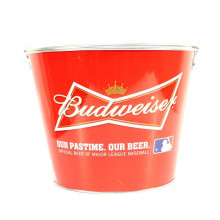 "Budweiser ""Our Pastime Our Beer Official Beer of MLB""  Beer  Bucket"