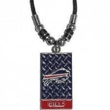 Buffalo Bills Diamond Plate Rope Necklace, 20-Inch