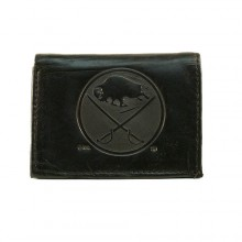 Buffalo Sabres Black Leather Tri Fold Wallet