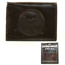 Buffalo Sabres Brown Leather Tri Fold Wallet
