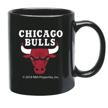 Chicago Bulls 15 oz Black Ceramic Coffee Cup