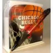 Chicago Bulls Stationery Desk Caddy with Matching Ballpoint Grip Pen