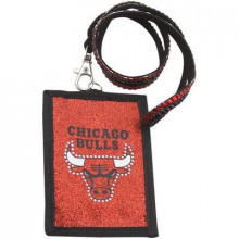 Chicago Bulls Beaded Lanyard I.D. Wallet