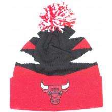 Chicago Bulls Intimidate Cuff Pom Beanie