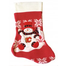 "Calgary Flames 22"" Snowflake Christmas Stocking"