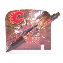 Calgary Flames Stationery Desk Caddy with Matching Ballpoint Grip Pen