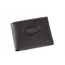 Montreal Canadiens  Black Leather Bi-Fold Wallet
