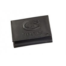 Montreal Canadiens  Black Leather Tri-Fold Wallet