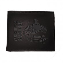 Vancouver Canucks  Black Leather Bi-Fold Wallet