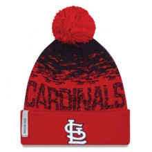 St. Louis Cardinals Embroidered Pom Cuffed Knit Beanie Hat Cap Lid