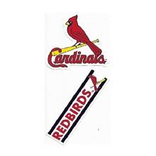 Rico Industries St. Louis Cardinals Double Up Die Cut Vinyl Stickers