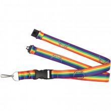 L A Chargers Breakaway Rainbow Lanyard