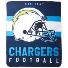 "Los Angeles Chargers 50"" x 60"" Singular Fleece Throw Blanket"