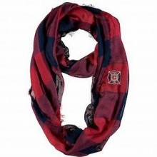Chicago Fire Plaid Infinity Scarf