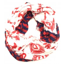 Chicago Fire Striped Infinity Scarf