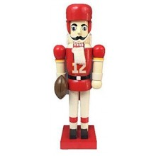 "Kansas City Chiefs 13"" Wood Nutcracker"