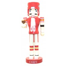"Kansas City Chiefs 12"" Wood Nutcracker"