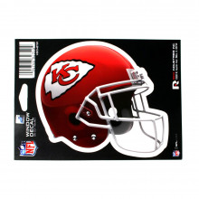 "Kansas City Chiefs 6"" Helmet Die-Cut Window Decal"