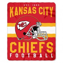 "Kansas City Chiefs 50"" x 60"" Singular Fleece Throw Blanket"