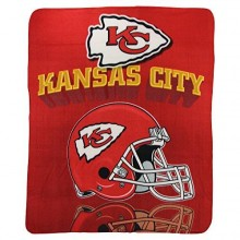 "Kansas City Chiefs 50"" x 60"" Gridiron Fleece Throw Blanket"