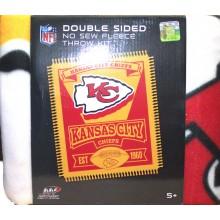 Kansas City Chiefs Double Sided No Sew Fleece Blanket Kit