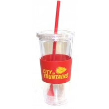 "Kansas City Chiefs ""City of Fountains"" 22 oz Slogan Tumbler"