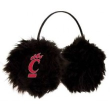 Cincinnati Bearcats Embroidered Faux Fur Team Logo Earmuffs Cheermuffs