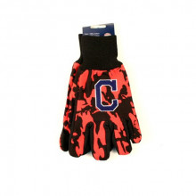 MLB Cleveland Indians Team Color Camo Utility Gloves