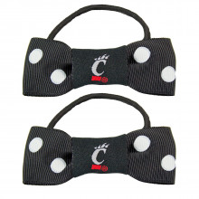 Cincinnati Bearcats Bow Pigtail Holders