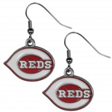Cincinnati Reds Logo Dangle Earrings