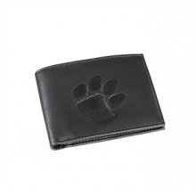 Clemson Tigers Black Leather Bi-Fold Wallet