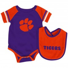 Clemson Tigers Colosseum Infant Bib and Bodysuit Set (0-3 Months)