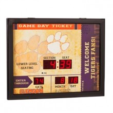 Clemson Tigers Bluetooth Scoreboard Wall Clock