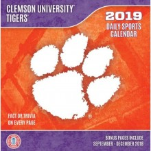 Clemson Tigers 2019 Boxed Desk Calendar