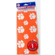 Clemson Tigers  Gift Wrap Sheets 12.5 sq. ft.
