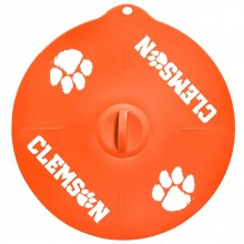 """Clemson Tigers 9"""" Silicone Lid"""