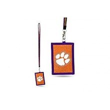 Clemson Tigers Beaded Lanyard I.D. Wallet