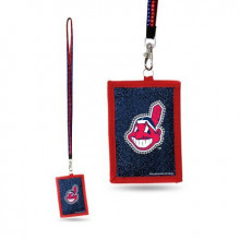 Cleveland Indians Beaded Lanyard I.D. Wallet